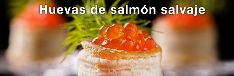 Huevas de salmón salvaje